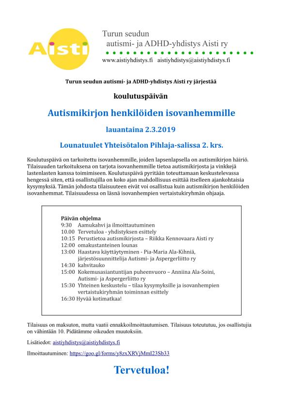 Autismikirjon henkilöiden isovanhempien koulutuspäivä 20190302-1