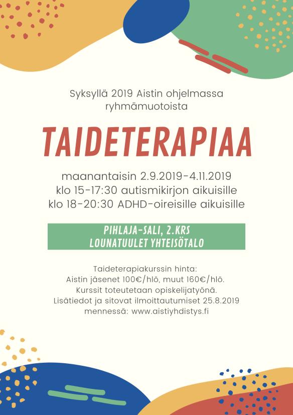 Taideterapiaryhmät 2019